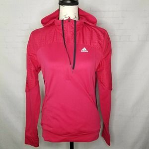 Adidas Running Women Size S Hooded Pullover 1/2